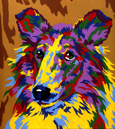 Collie painting by Picture Craft